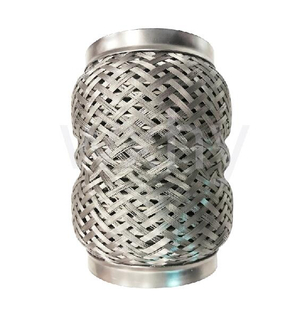 Stainless steel outer pearl Mesh braid Pipe with inner interlock for car exhaust