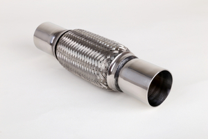 Stainless steel High temperature exhaust flexible pipe with extension nipple pipe