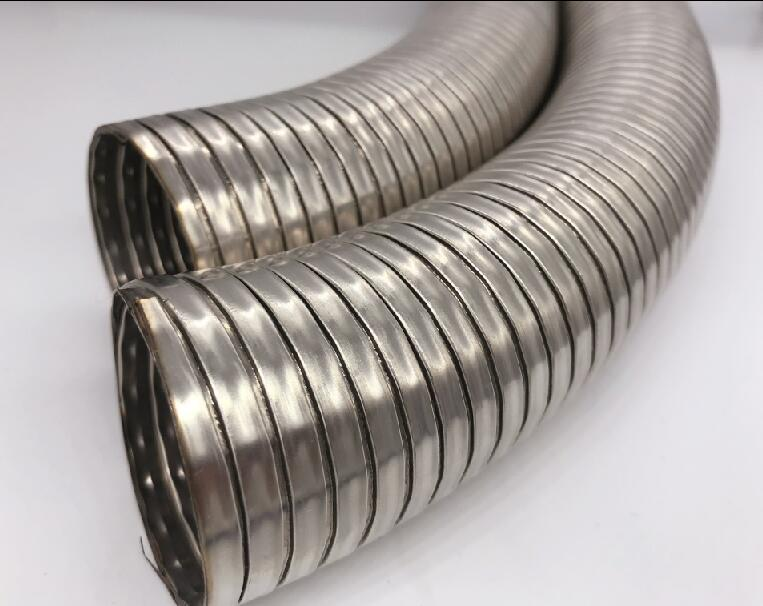 Air conditioner interlock flex hose out door strip wound interlock tube