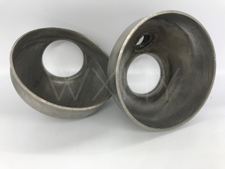 Exhaust tube metal elbows